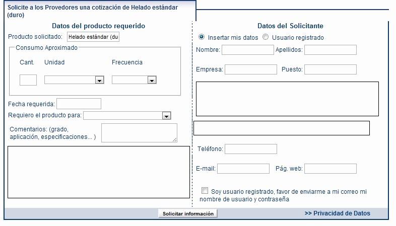 Formato De Cotizacion De Servicio Elegant Enviar solicitud De Cotización