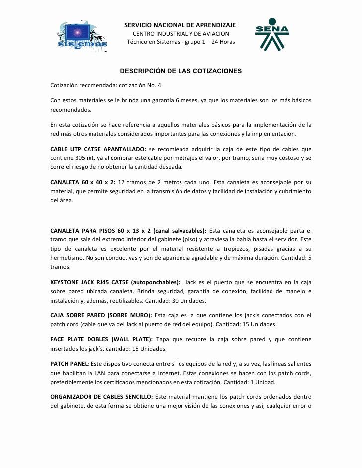 Formato De Cotizacion De Servicio Unique Plano Cotizacion Redes