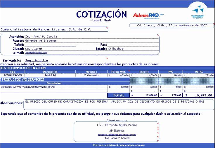 Formato De Cotizacion En Excel Awesome Descargar Gratis Modelos Plantillas formatos De