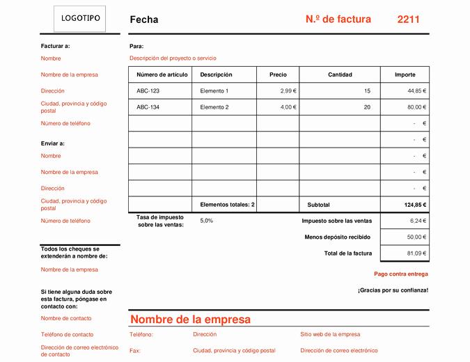 Formato De Cotizacion En Excel Best Of Factura Que Calcula El total