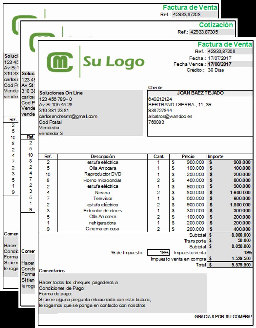 Formato De Cotizacion En Excel Lovely Sistema De Facturación Y Ventas En Excel Descargar Gratis