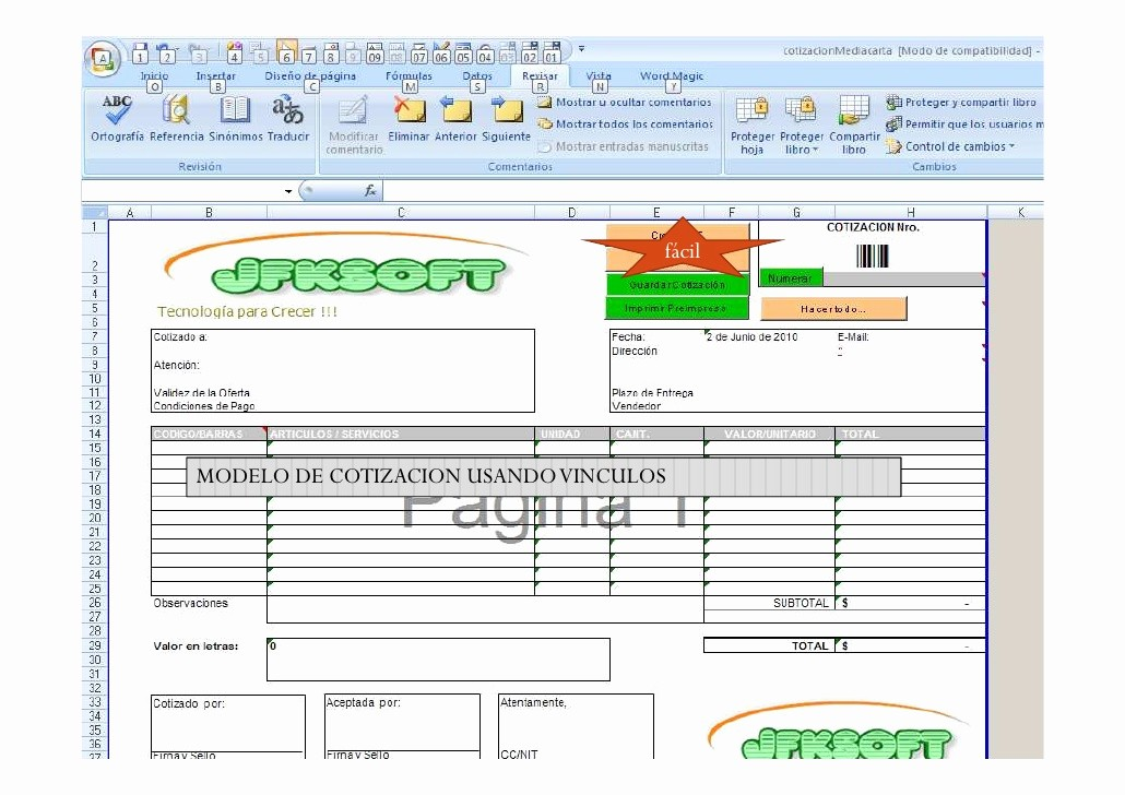 Formato De Cotizacion En Excel Luxury Microsoluciones Excel Superavanzado Bases De Datos Access