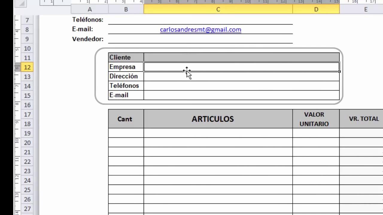Formato De Cotizacion En Excel Unique formato De Cotización En Excel Para Descargar