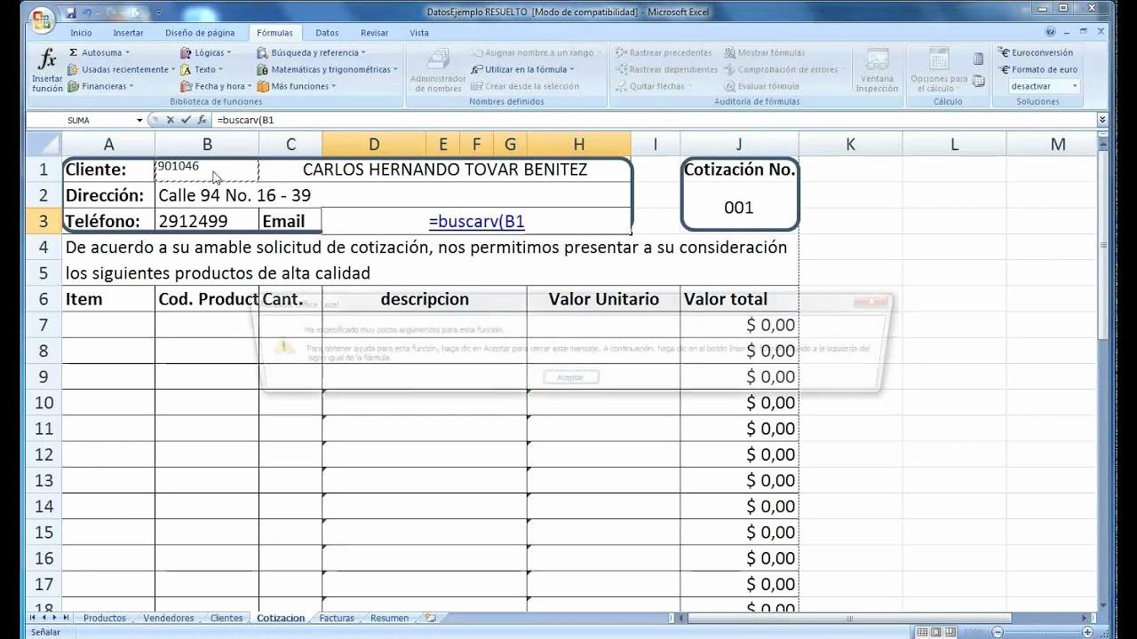 Formato De Cotizacion En Excel Unique O Hacer Para Llenar Una Cotizacion A Partir De Unos
