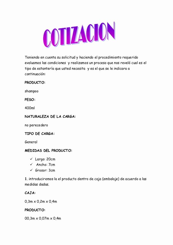 Formato De Cotizacion Para eventos Luxury Cotizacion