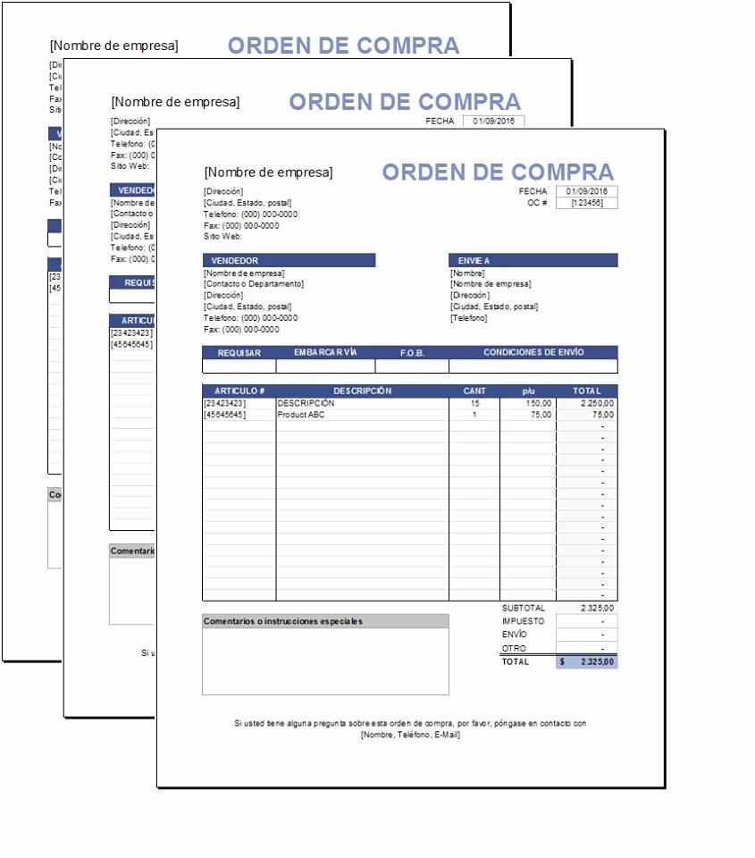 Formato De Cotizacion Para Llenar Best Of Plantilla De orden De Pras Excel – Plantillas Gratis