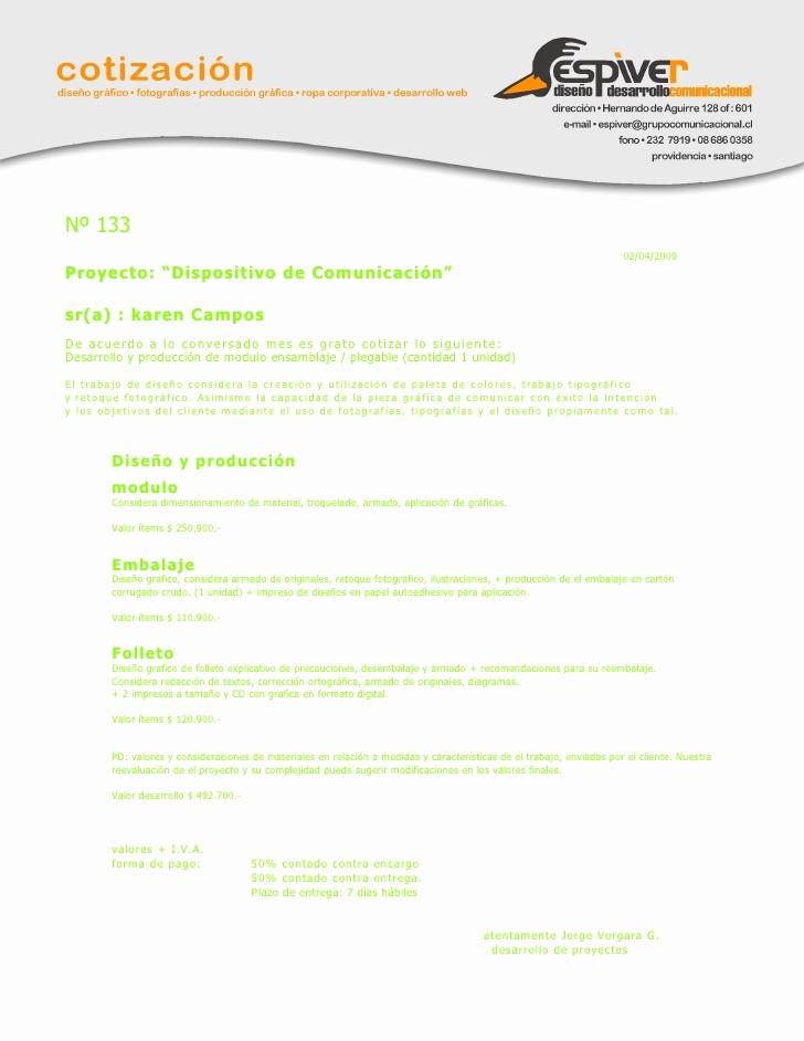 Formato De Cotizacion Para Llenar Elegant Cotizacion