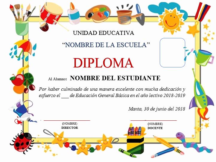 Formato De Diplomas Para Llenar Awesome Plantillas De Diplomas Para Editar Ayuda Docente