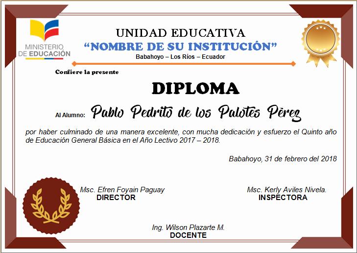 Formato De Diplomas Para Llenar Elegant Diplomas Editables En Word Para Imprimir