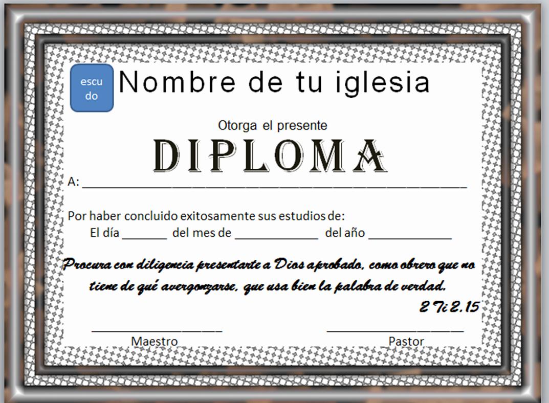 Formato De Diplomas Para Llenar Inspirational Diplomas Cristianos Descargas Gratis