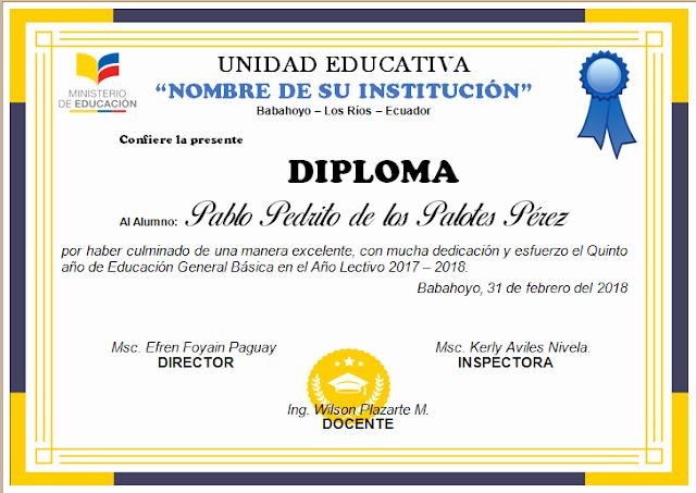 Formato De Diplomas Para Llenar Lovely Diplomas Editables En Word Para Imprimir