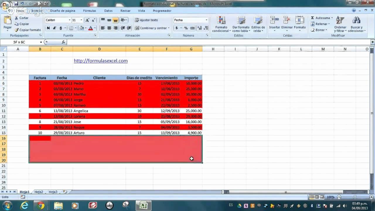 Formato De Facturas En Excel Beautiful formato Condicional En Excel Facturas Vencidas