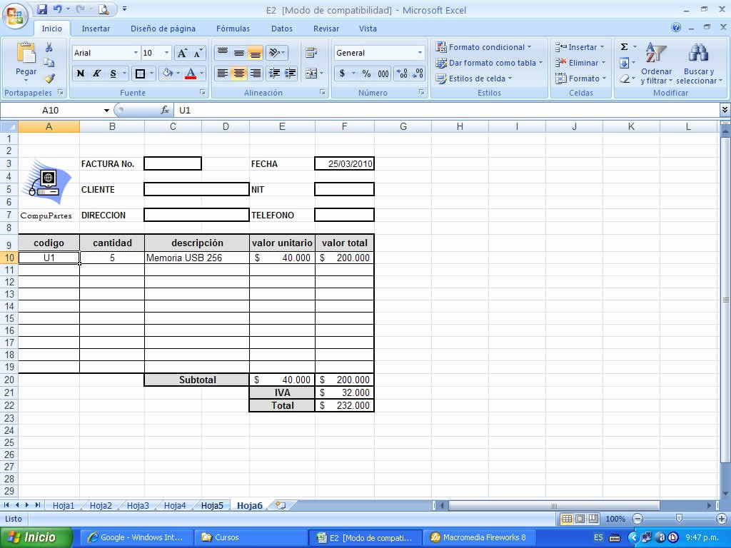 Formato De Facturas En Excel Beautiful formatos Facturas Excel