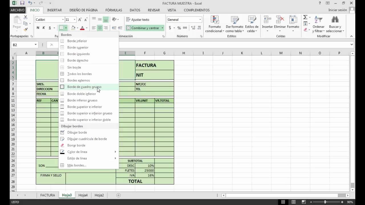 Formato De Facturas En Excel Elegant formato Factura En Excel