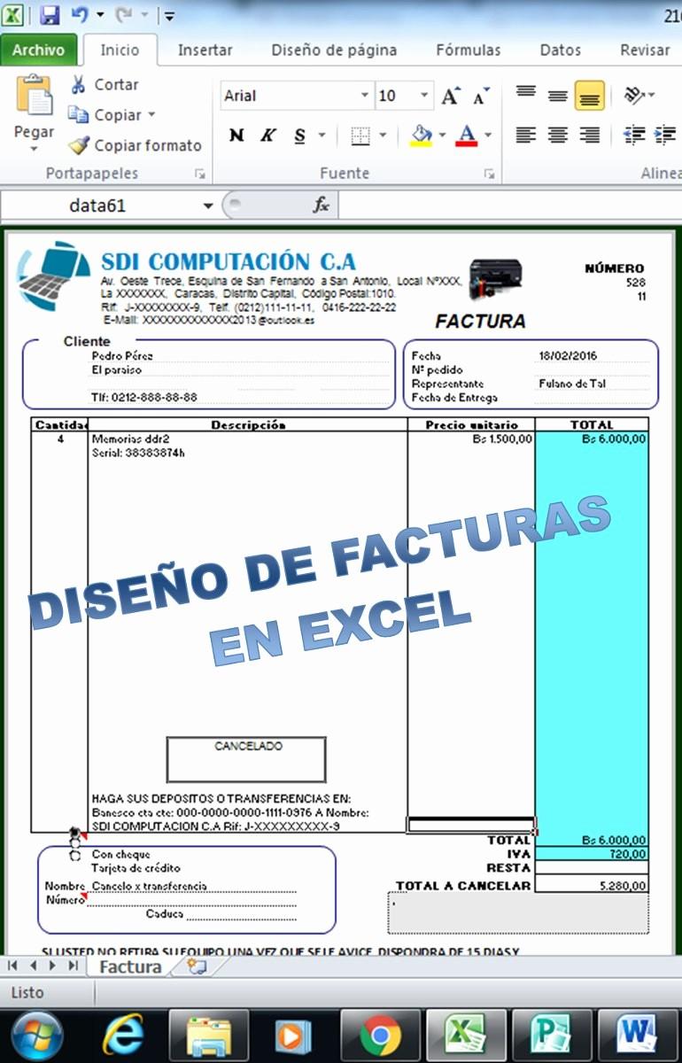 Formato De Facturas En Excel Elegant Plantillas En Facturas En Excel Digital Notas De Entrega
