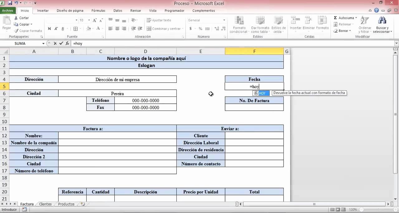 Formato De Facturas En Excel Unique Crear Una Factura Con Excel En Pocos Pasos