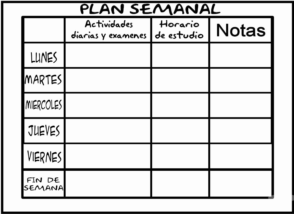 Formato De Horarios De Trabajo Awesome Planificadores Semanal Para Alumnos Y Profesores
