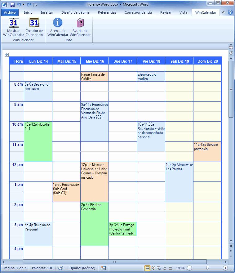 Formato De Horarios De Trabajo Beautiful Creador De Calendario Con Das Feriados Para Microsoft Word