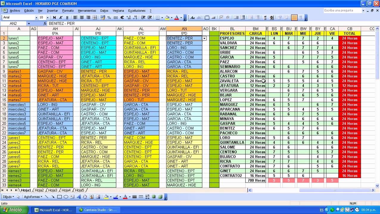 Formato De Horarios De Trabajo Unique Horarios Utilizando Excel IntroducciÓn
