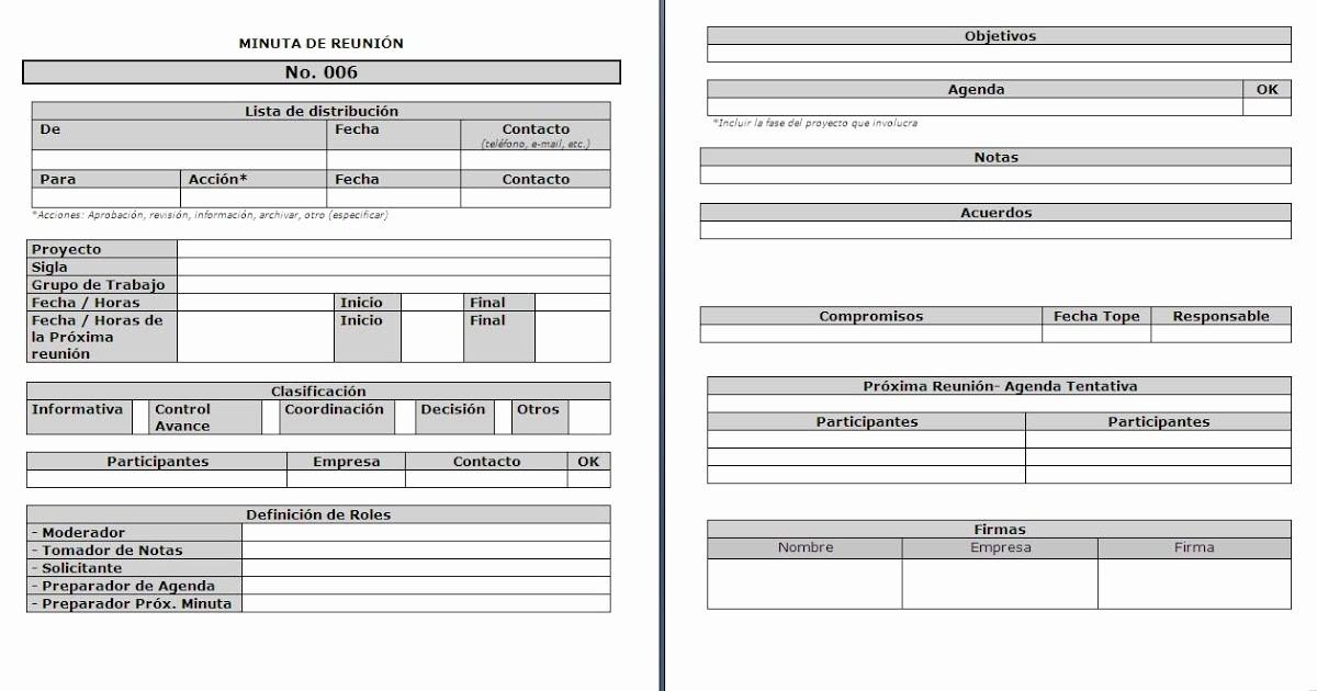 Formato De Minuta En Blanco New Modelamiento De Procesos De Negocio formato De Minuta De