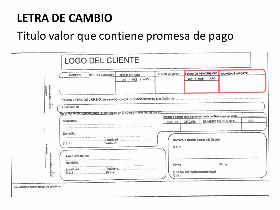 Formato De Minuta En Blanco Unique Titulos Valores Cheque Letra De Cambio PagarÉ Factura