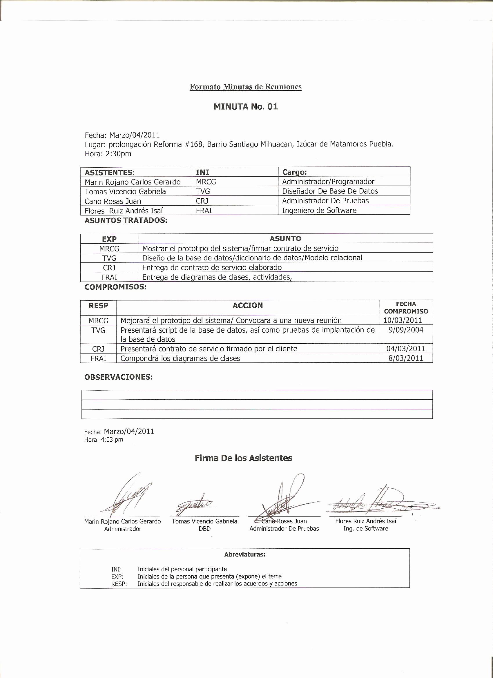 Formato De Minutas De Reunion New Elaborar Documentos De Oficina Minuta