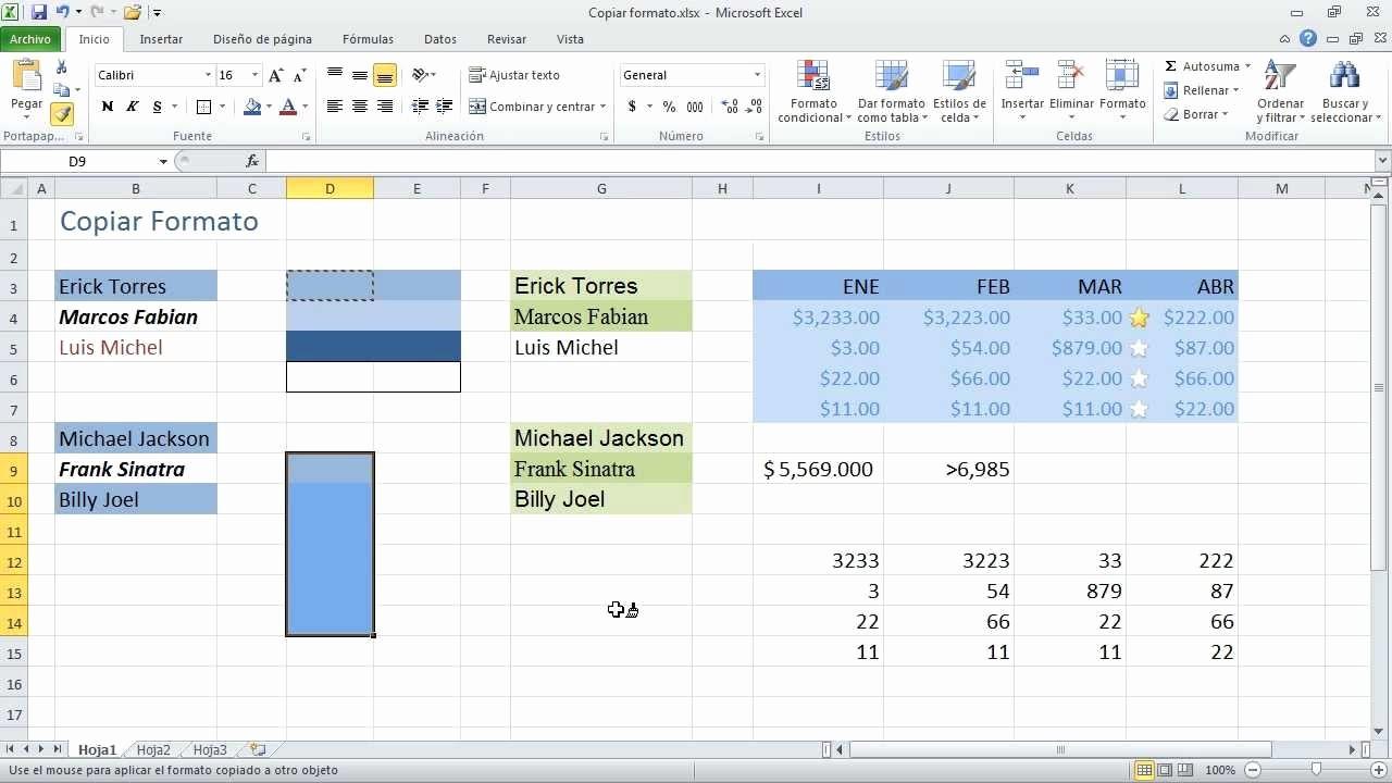 Formato De Pyg En Excel Beautiful Curso Excel 2010 Captulo 3 Aplicando formato 14 Copiar