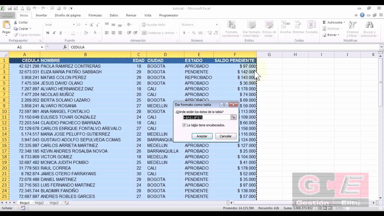 Formato De Pyg En Excel Best Of formato De Tabla En Excel 2010