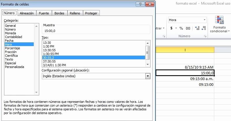 Formato De Pyg En Excel Elegant Mundo Excel formato De Hora