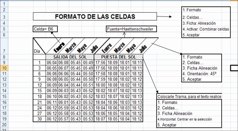 Formato De Pyg En Excel Elegant Uso PedagÓgico De Las Tic Excel formato