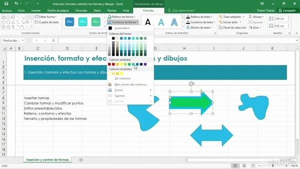 Formato De Pyg En Excel Inspirational formato Y Efectos De formas Y Dibujos Insertados En Excel