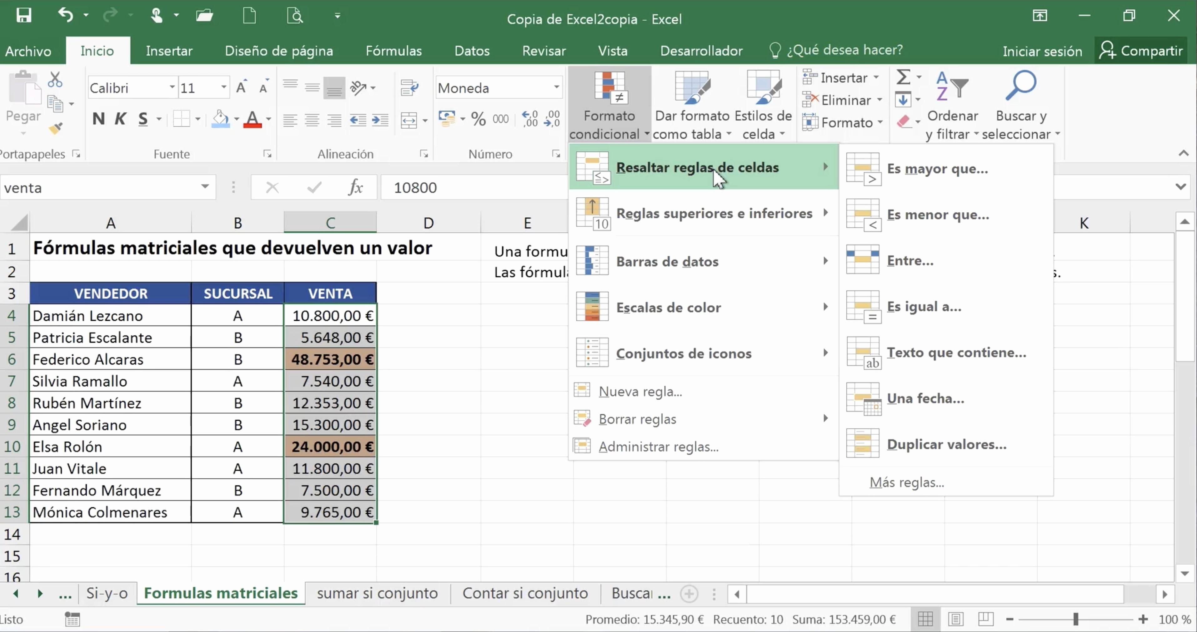 Formato De Pyg En Excel Inspirational Office 2016 Excel formato Condicional
