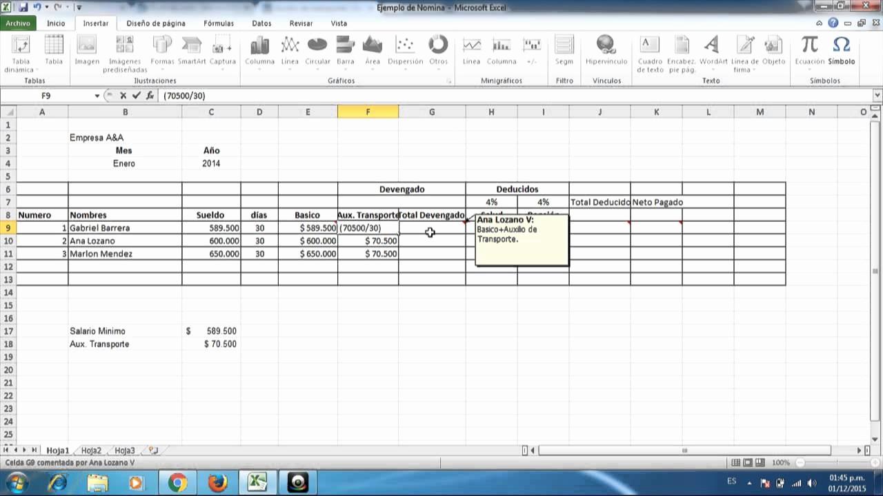 Formato De Pyg En Excel Unique formulación De Nomina En Excel