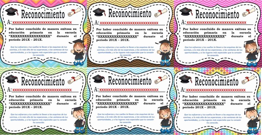 Formato De Reconocimiento Para Editar Awesome Fantásticos Reconocimientos Editables De Graduación