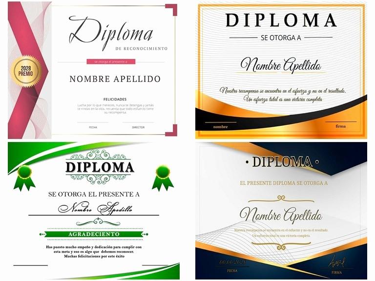 Formato De Reconocimiento Para Editar Beautiful formato De Diplomas Editables Plantillas Diplomas