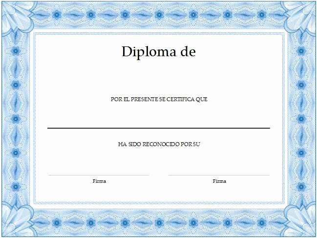 Formato De Reconocimiento Para Editar Beautiful formato Para Crear Diplomas Cesar