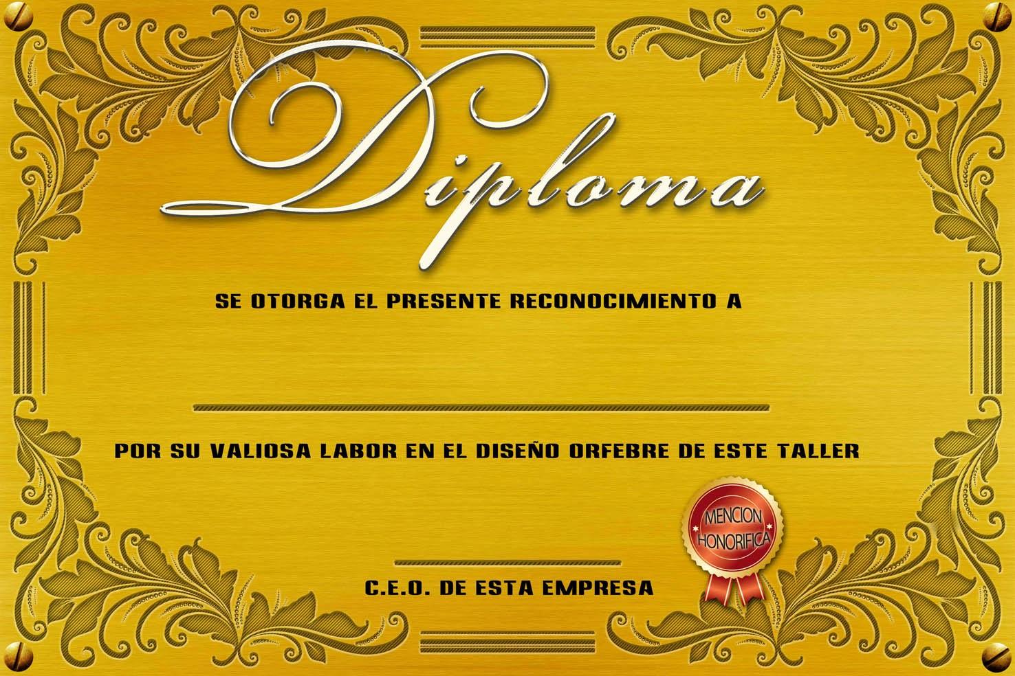 Formato De Reconocimiento Para Editar Elegant Diplomas Para Editar En Photoshop
