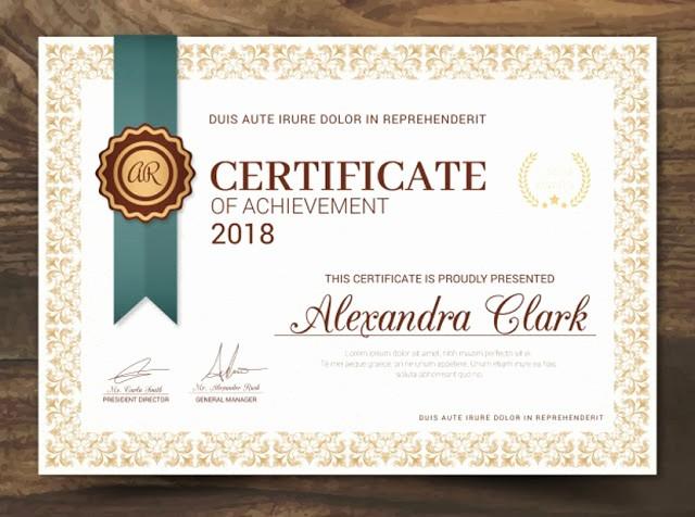 Formato De Reconocimiento Para Editar Elegant Hermosos Certificados Y Diplomas Para Imprimir Recursos