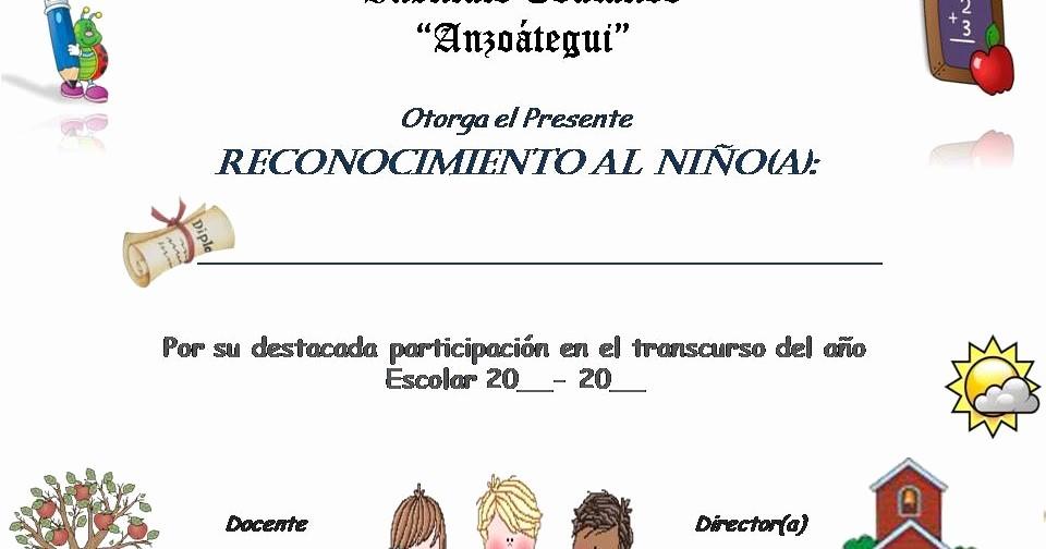 Formato De Reconocimiento Para Editar Elegant Planeta Escolar Diplomas Y Reconocimientos Para Alumnos