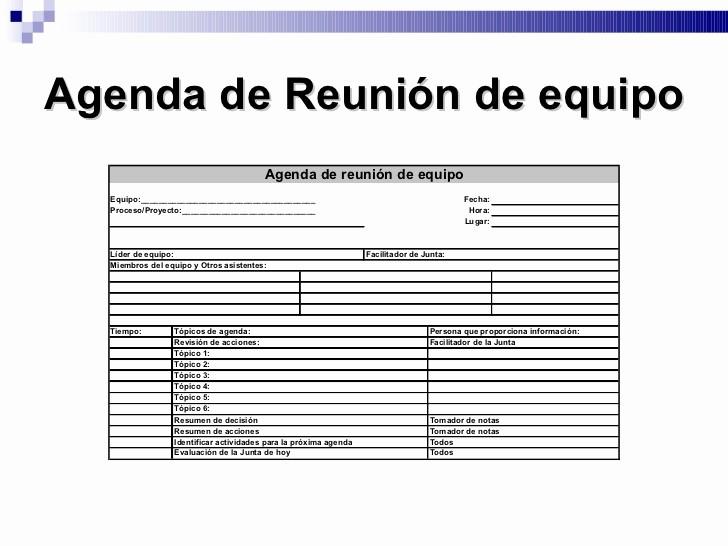 Formato De Reuniones De Trabajo Luxury Integración De Equipos De Trabajo