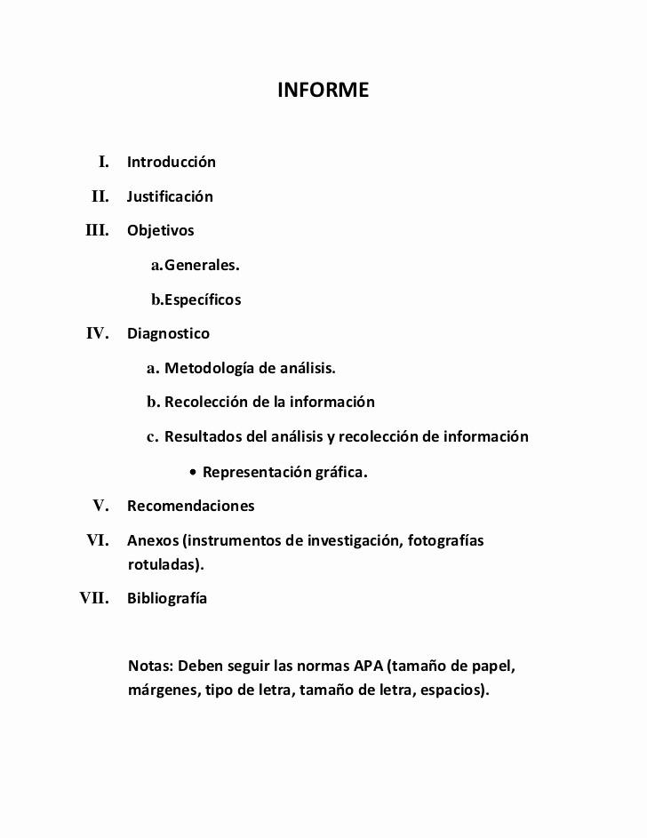 Formato De Un Informe Simple Awesome formato Presentar Informe De Investigacion