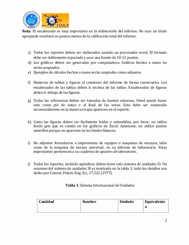 Formato De Un Informe Simple Elegant formato E Instructivo Del Informe De Laboratorio