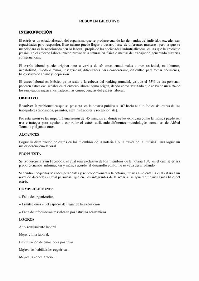 Formato De Un Informe Simple Luxury Reporte Ejecutivo