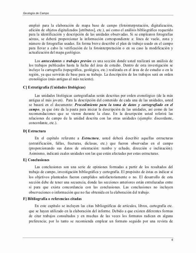 Formato De Un Informe Simple New formato Guia Informe
