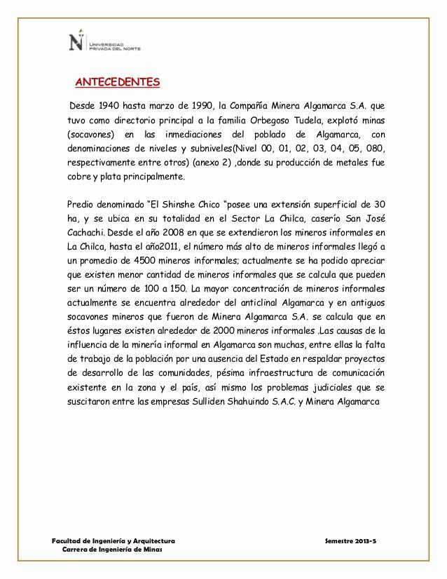 Formato De Un Informe Simple New formato Informe Vista Tecnica Chilca Erika Valera