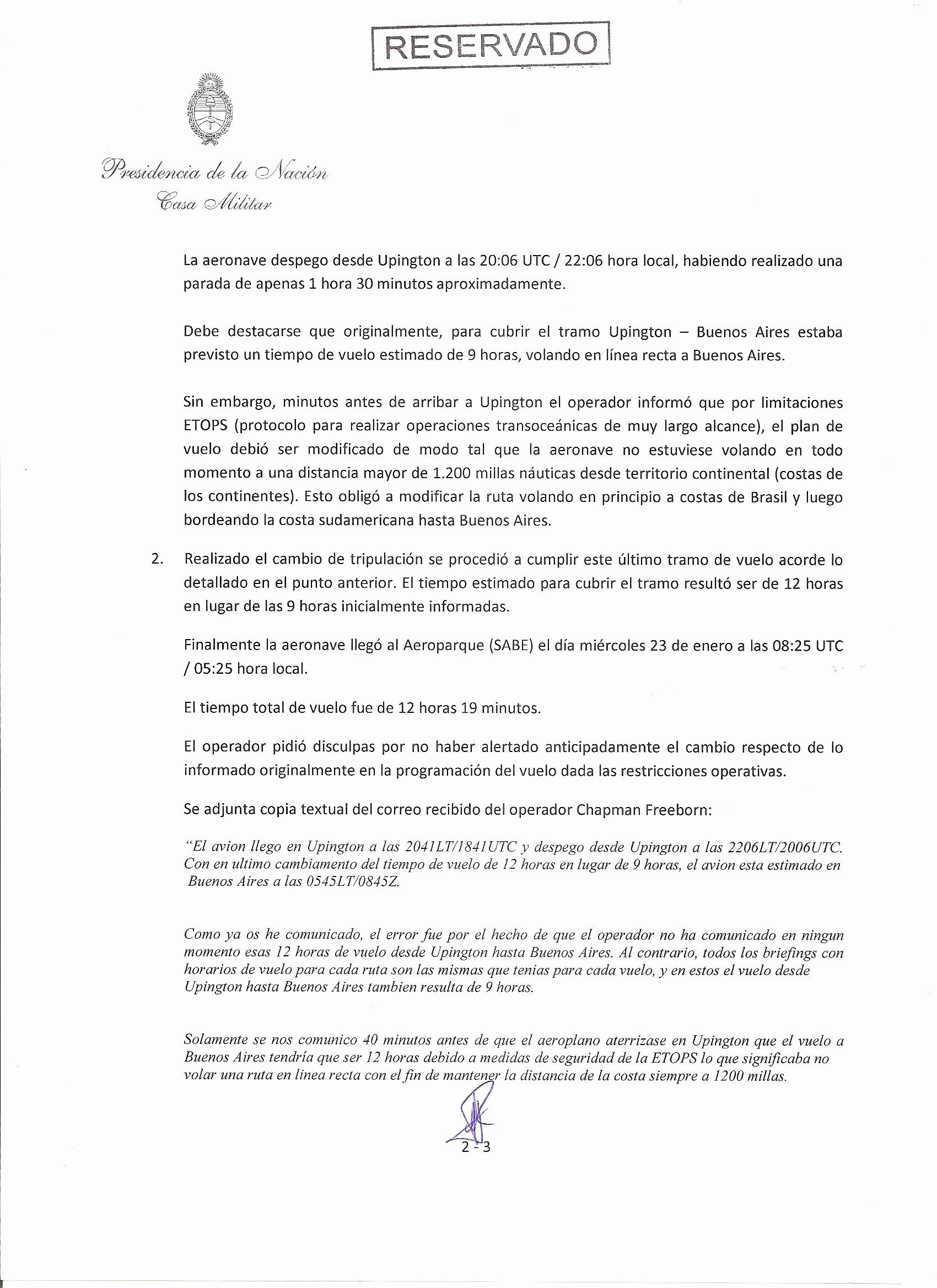 """Formato De Un Informe Simple New Viaje De Cristina A Seychelles La """"corrupción K"""