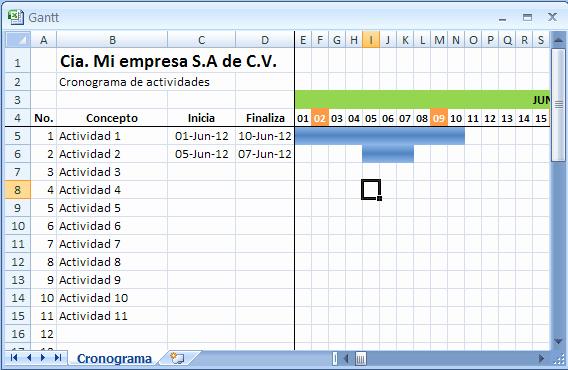 Formato Excel Cronograma De Actividades Awesome O Hacer Un Cronograma En Excel