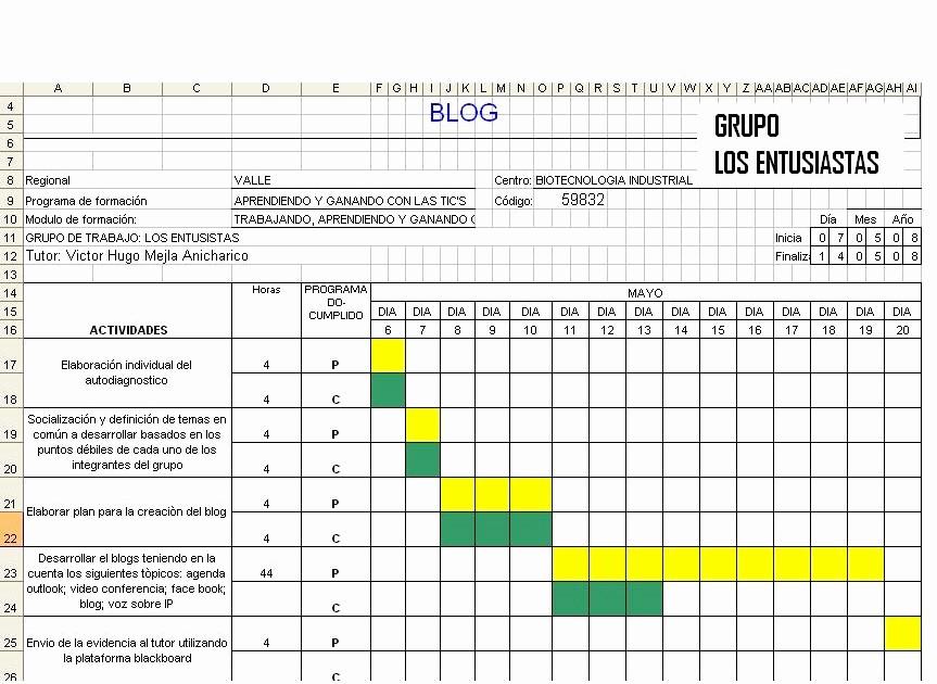 Formato Excel Cronograma De Actividades Best Of formato Cronograma Excel formato Excel Cronograma De