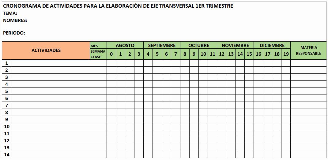 Formato Excel Cronograma De Actividades Fresh formato Cronograma Blog Del Maestro Jarqu 205 N formato De