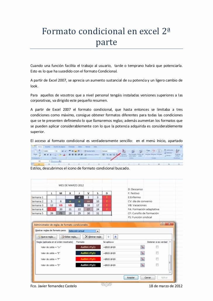 Formato Extracto Bancario En Excel Awesome formato Condicional En Excel 2007